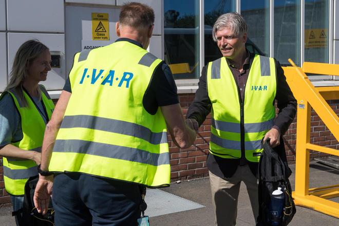 Klima- og miljøministeren besøkte IVAR